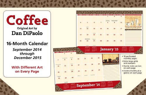 Coffee 2014-15 16-Month Desk Pad Calendar