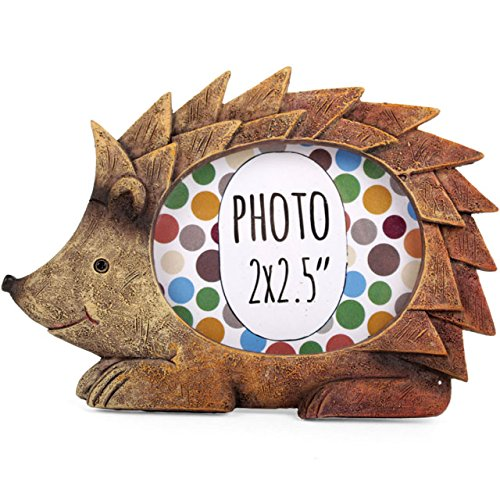 AUTUMN HEDGEHOG - Forest Friends - PHOTO FRAME - Novelty Mini resin Photo Frame - 9.5cm by Ethically Sourced