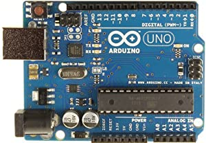Arduino UNO R3 Board with ATmega328P Microcontroller, ATmega16U2 and USB