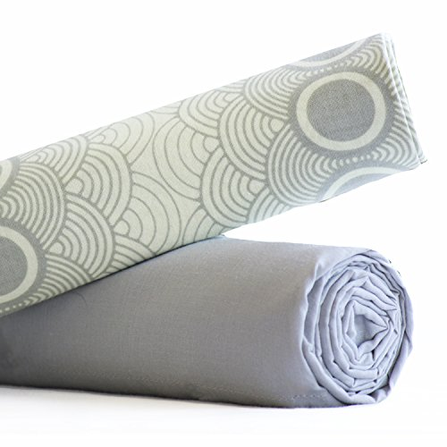 Swaddle Duet - True French Muslin - Baby Registry Shower Gift - (Grey Clouds)