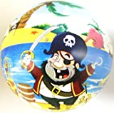 Inflatable Pirate PVC Plastic Football Play Beach Ball Kid Boy Party Child Pool Birthday Garden Summer Fun 23cm