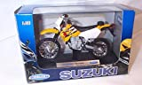welly suzuki yellow, white and black DR-Z400S bike 1.18 scale diecast model