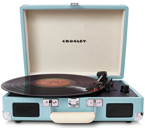 Best Price Crosley CR8005A-TU Cruiser Portable Turntable (Turquoise)