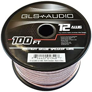 gls audio premium 12 gauge 100 feet speaker wire true 12awg speaker cable 100ft. Black Bedroom Furniture Sets. Home Design Ideas