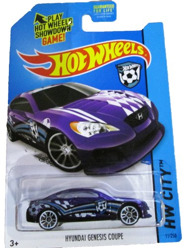 Hot Wheels, 2014 HW City, Hyundai Genesis Coupe [Purple] Die-Cast Vehicle #11/250 - 1