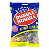 DOUBLE BUBBLE GUMBALLS CANDY ASSORTED FRUIT FLAVORS INDIVIDUALLY WRAPPED 4 OZ BAG