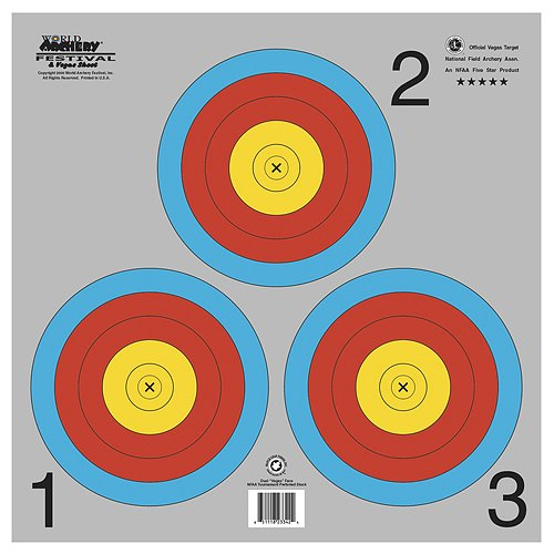 Maple Leaf NAA Official 3-Spot Color Target Vegas 100/pk.