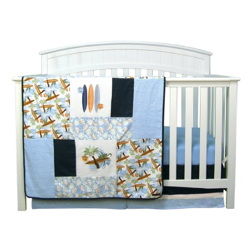 Trend Lab Surf's Up 3 Piece Crib Bedding Set