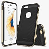iPhone6s ケース ESR iPhone6 ケース TPUカバー+メタルフレーム メタル/TPU二層構造 耐衝撃 取り出し易い iPhone6/ iPhone6s バンパー iPhone本体と同じ技術 電波の影響無し(ストラップ_ゴールド)