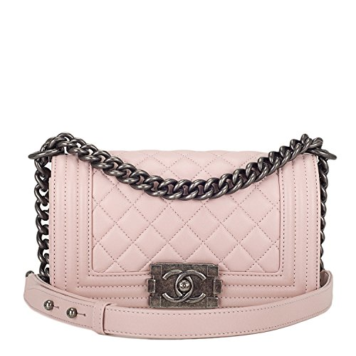 chanel-authentic-light-pink-quilted-lambskin-small-boy-bag