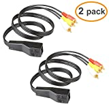 RELPER 2 Pack 3 RCA to RJ45 Component Video and Audio ExtenderOver Cat5/6 Up to 600ft/200M