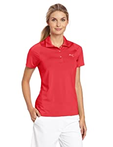 Puma Golf Women's Duo-Swing Polo, Virtual Pink, Small