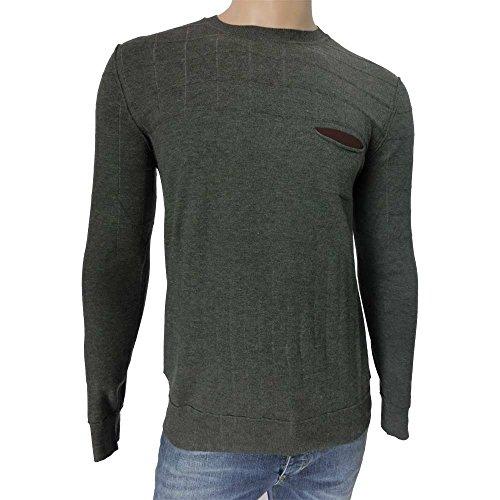 Girocollo uomo +39 Masq 0928 - Maglia 43% viscosa 35% nylon microfibra 22% nylon comfort made in italy, grigio (M)