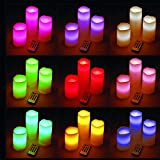 3 PC LED Candle Stand with Remote by Flintstop