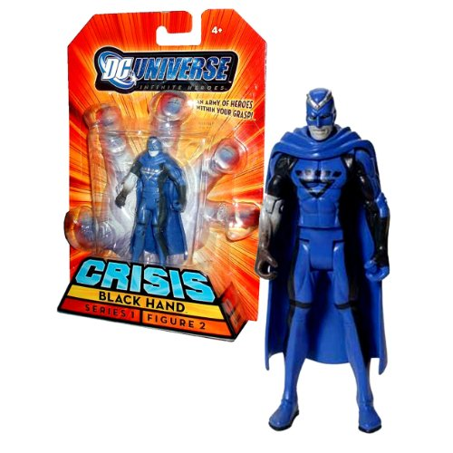 "Mattel Year 2008 DC Universe Series 1 ""Infinite Heroes Crisis"" 4 Inch Tall Action Figure #2 - Villain BLACK HAND (N1739) by DC Comics - 1"