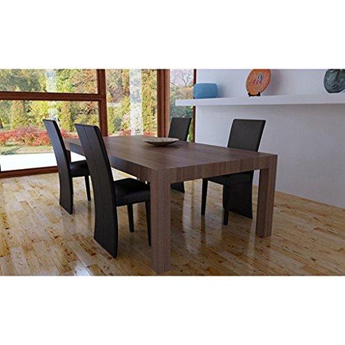 Sedie design moderne legno e ecopelle caffe 39 per salotto for Sedie salotto moderne