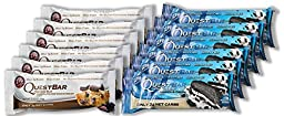 Quest Nutrition Protein Bars 6 Chocolate Chip Cookie Dough Pieces / 6 Cookies & Cream Pieces