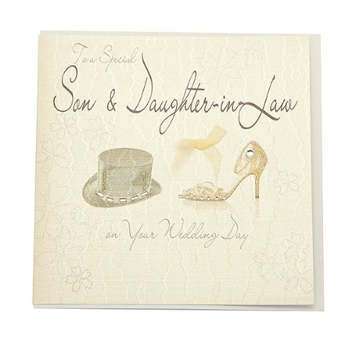 WB8 Son and Daughter in Law Wedding Card