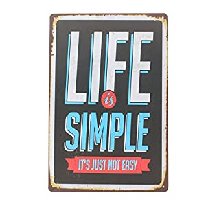 YESURPRISE Europen Vintage Style Metal Advertising Wall Sign Retro Art 20*30cm Life Simple from Yesurprise.co.ltd