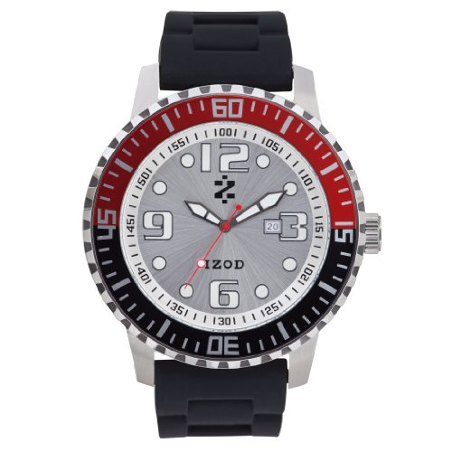 IZOD Men's IZS4/8 RED/BLK Sport Quartz 3 Hand Watch
