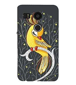 Cute parrot Back Case Cover for LG Google Nexus 5X::LG Google Nexus 5X (2nd Gen)