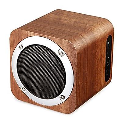ZENBRE F3 Wooden Bluetooth 4.0 Speakers, 1800mAh with Enhanced Bass Resonato