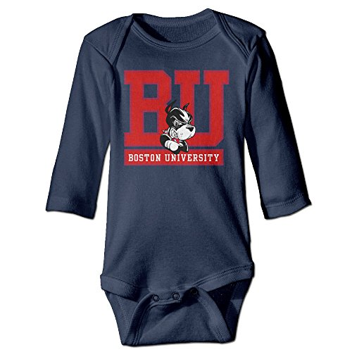 MZONE Boston Mascot Terrier University Long-Sleeve Romper Bodysuit For 6-24 Months Toddler Size 24 Months Navy (Rice Jhumpa Lahiri compare prices)