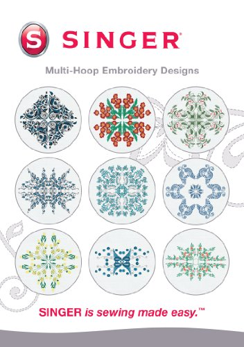 SINGER Multi-Hoop Embroidery Designs CD for Futura with 10 Designs (Singer 420 Futura compare prices)