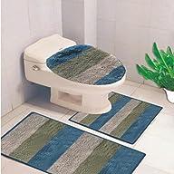 Denise Striped 3 Piece Bath Rub Set,…