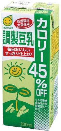 Marusan preparado soja leche calorías 45% 200 ml × 24 libro