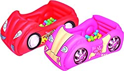 Bestway Race Car & Game Ball Combo (40*13*39.30cm,multicolour)