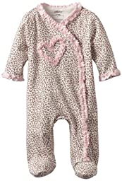 Little Me Baby Girl Newborn Leopard Footie, Pink, 3 Months