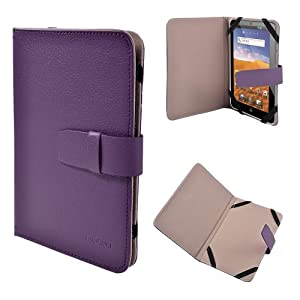 """Housse couleur Violet universel pour tablette 7"""" ex. ASUS GOOGLE Nexus 7, Kobo VOX,Nook Color,SAMSUNG GALAXY TAB 2 7.0 P3100 P3110/P6200/P1000, 2.2 EASY TAB, 7"""" MID, Apad, Epad, 7 inch NEW e reader book, Blackberry playerbook, NOOK HD7, Huawei Mediapad T-Mobile SpringBoard 7"""""""