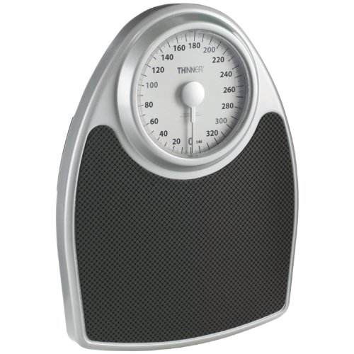 Thinner Scale by Conair TH100 Extra Large Dial Analog Precision Scale, Black and Silver