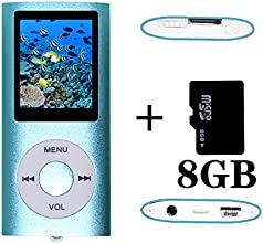 Tom America INC Portable MP4 Player MP3 Player Video Player with Photo Viewer , E-Book Reader , Voice Recorder + 8 GB Micro SD Card (Blue)