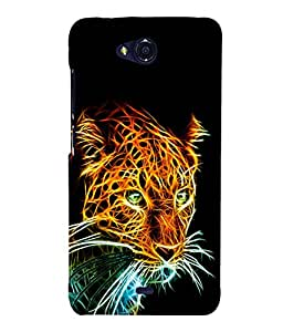 printtech Tiger Back Case Cover for MicromaxBolt Q335