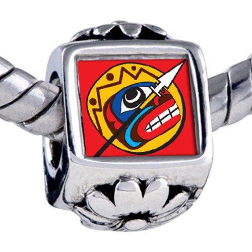Pugster Bead Spear Shield Beads Fits Pandora Bracelet