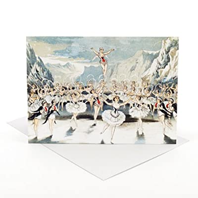 V&A Christmas Cards - Snow Ballet (Pack of 10, Large Rectangle)||RF20F||EVAEX