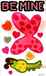 BE MINE LOCKER MAGNETS CANDY HEARTS, BUTTERFLY , HEARTS AND MORE (1 PACKAGE - 11 MAGNETS)