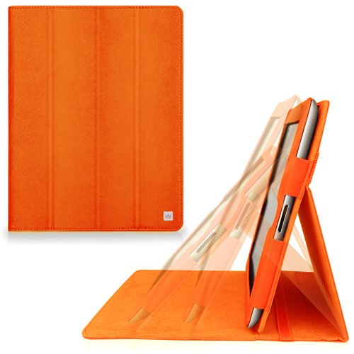 CaseCrown Omni Ridge Flip Case (Orange) for iPad 4th Generation with Retina Display, iPad 3 & iPad 2 (Built-in magnet for sleep / wake feature)