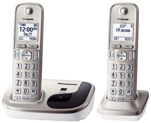 Panasonic KX-TGD212N dect_6.0 2-Handset Landline Telephone