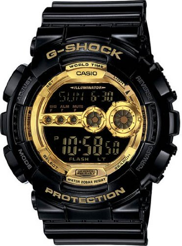 Casio G-Shock Chronograh Digital Gold Dial Men's Watch - GD100GB-1