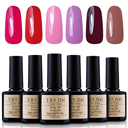 Yaoshun-Gel-Nail-Polish-Soak-Off-UV-LED-Nail-Art-Starter-Kits-6PcsLot-10ml