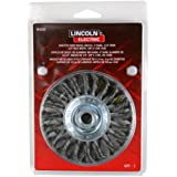"Lincoln Electric KH305 Knotted Wire Wheel Brush, 20000 rpm, 4"" Diameter x 1/2"" Face Width, 5/8"" x 11 UNC Arbor (Pack of 1)"
