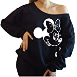 Personalized Disney Minnie Mouse Slouchy Off The Shoulder Sweatshirt