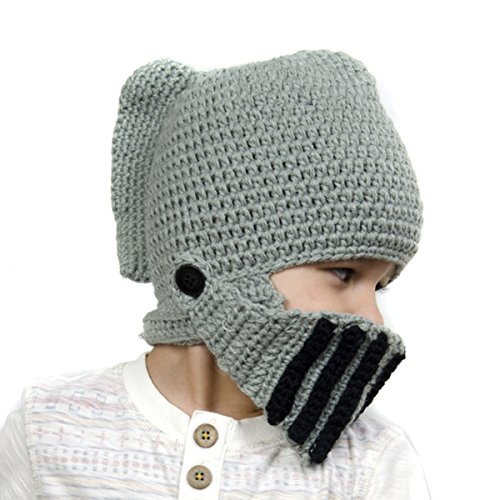 Baby Beanie: Hand Knit Knights' Helmet Hat - 3-5 Years (49cm)