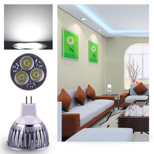 Ultra Bright Mr16 9W Led Spot Light Downlight Lamp Bulb Pure White Fashion Partical