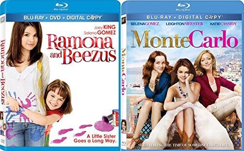 Ramona and Beezus & Monte Carlo Blu Ray Selena Gomez Set (2-Pack) movies