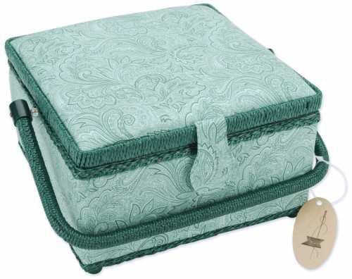 Square Sewing Basket 9 Inch X9 Inch X5-1/2 Inch
