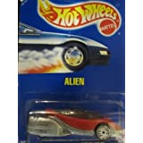 Alien 1991 Hot Wheels #62 Red With Silver Ultra Hot Wheels On Solid Blue Card